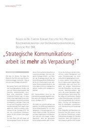 Strategische Kommunikations - arbeit ist mehr als ... - FAZ-Institut