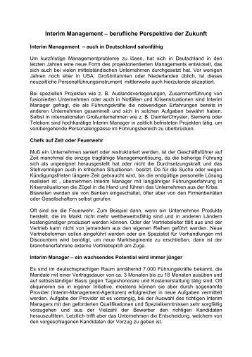 (IHK) Niederrhein September 2005 - FaZiT Interim GmbH