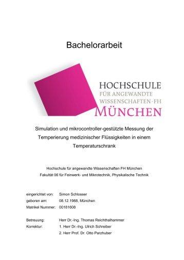 Bachelorarbeit - Fakultät 06