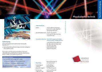 Physikalische Technik - Fakultät 06 - Hochschule München