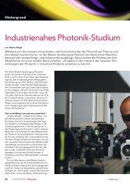 Industrienahes Photonik-Studium - Hochschule München