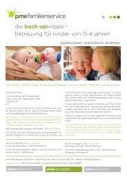 die back-upkrippe – betreuung für kinder von 0-4 jahren