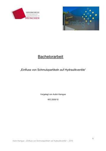 Bachelorarbeit - Hochschule München