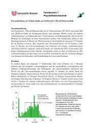 Pressemitteilung - Fachbereich Physik und Elektrotechnik der ...