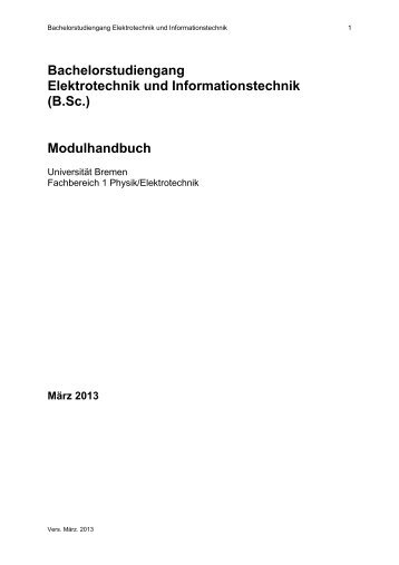 Bachelorstudiengang Elektrotechnik und Informationstechnik (B.Sc ...