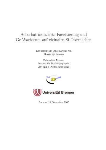 Adsorbat-induzierte Facettierung und Ge-Wachstum auf vicinalen Si ...