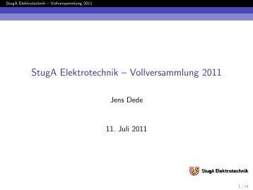 StugA Elektrotechnik ? Vollversammlung 2011