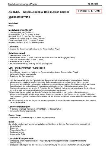 Vorlage: I / 27 / 2011