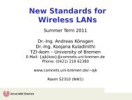 New Standards for Wireless LANs