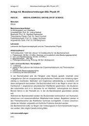 Anlage A3: Modulbeschreibungen BSc Physik VF - Fachbereich ...