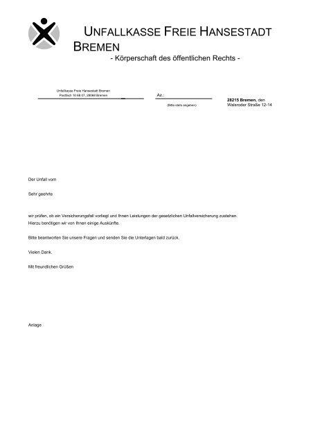 UNFALLKASSE FREIE HANSESTADT BREMEN