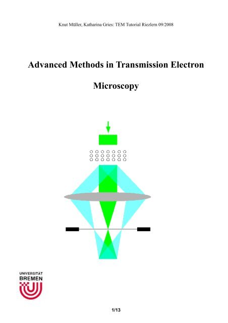Advanced Methods in Transmission Electron Microscopy
