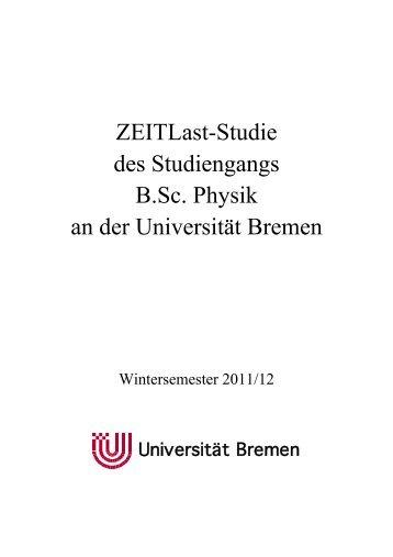 Bericht zur Zeitlaststudie - Fachbereich Physik und Elektrotechnik ...