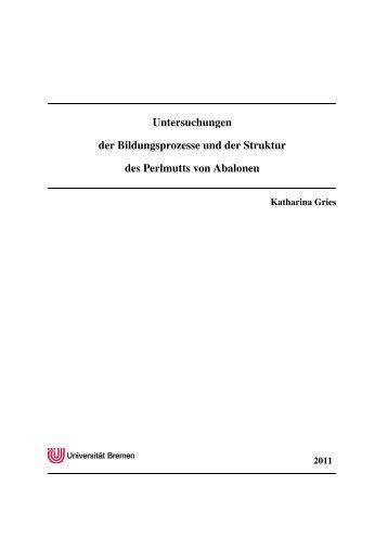 Untersuchungen der Bildungsprozesse und der Struktur des ...