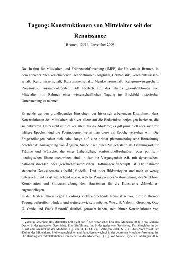 Abstract - Fachbereich 10 - Universität Bremen