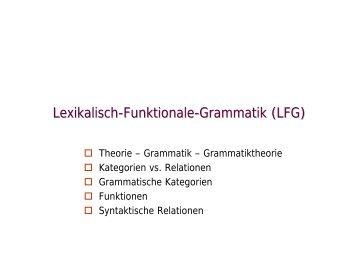 Theorie - Grammatik - Grammatiktheorie