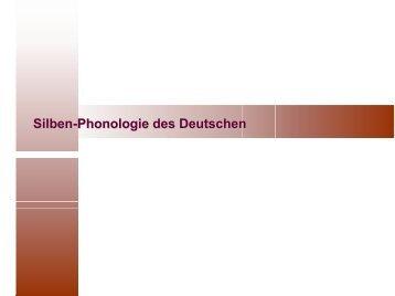 Silbenphonologie des Deutschen