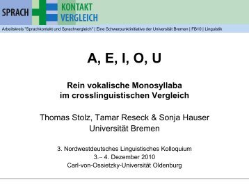 i/ /o - Universität Bremen