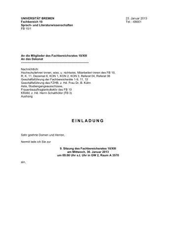 Fachbereich 10 - Universität Bremen