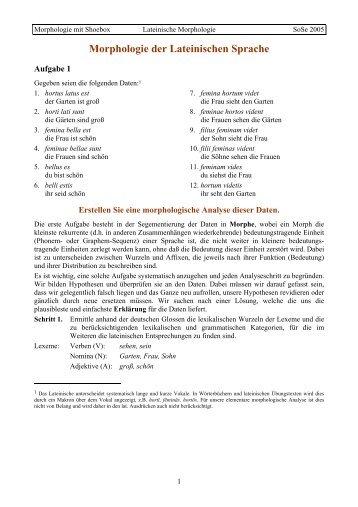 Lateinische Morphologie