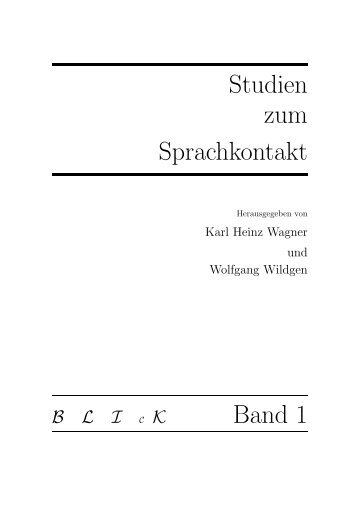 Studien zum Sprachkontakt - Fachbereich 10 - Universität Bremen
