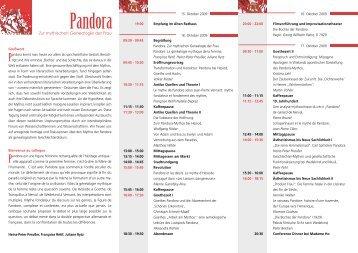 Pandora - Fachbereich 10 - Universität Bremen