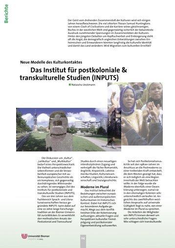 Das Institut für postkoloniale & transkulturelle ... - Fachbereich 10