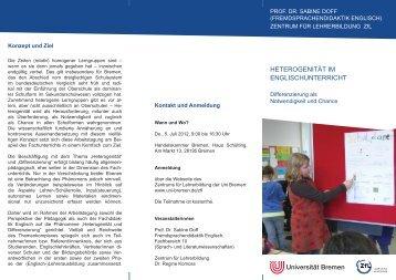 Flyer - Fachbereich 10 - Universität Bremen