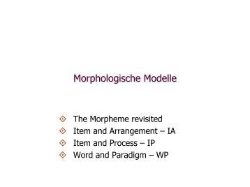 Morphologische Modelle