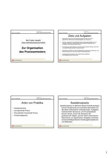 BA Public Health_Organisation_Praxis - Fachbereich 11 Human ...