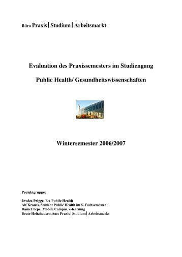 Evaluation Praxissemester B.A. Public Health - Fachbereich 11 ...