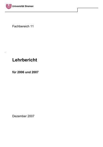 Lehrbericht - Fachbereich 11 Human-und Gesundheitswissenschaft ...