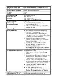 Curriculumentwicklung in Theorie und Praxis