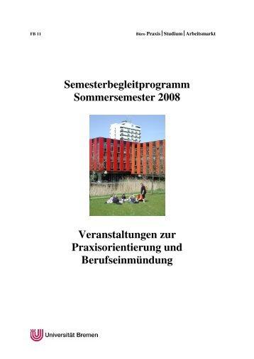 Semesterbegleitprogramm Sommersemester 2008 Veranstaltungen ...