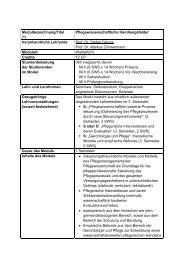 Modul 71 - Pflegewissenschaftliche Handlungsfelder