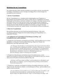 Richtlinien für das Vorpraktikum