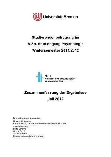 Studierendenbefragung B.Sc. Psychologie - Fachbereich 11 Human ...