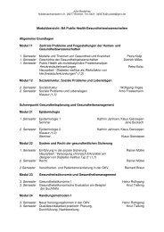 Modulübersicht: BA Public Health/Gesundheitswissenschaften ...