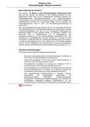 Beschreibung des Faches - Fachbereich 11 Human-und ...