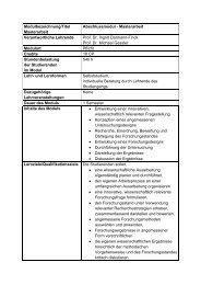 Modulbezeichnung/Titel Masterarbeit Abschlussmodul ...