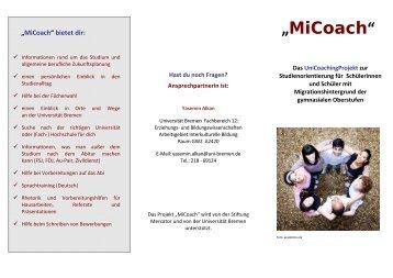 """""""MiCoach"""" - Fachbereich 12 - Universität Bremen"""