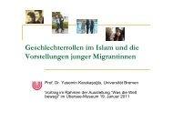 Geschlechterrollen im Islam und die Vorstellungen junger ...