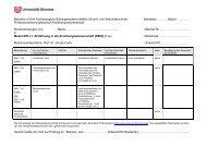 B.A. Fachbezogene Bildungswissenschaften (EW L1 - EW L4 und
