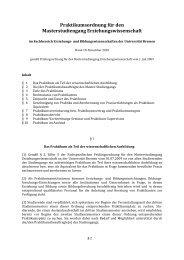 M.A. Erziehungs - Fachbereich 12 - Universität Bremen