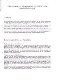 Erfahrungsbericht - Erasmus WS 20111 2A12 an der lstanbul ...