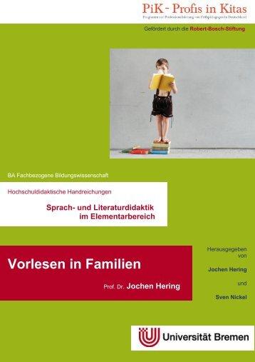 Vorlesen in Familien - Universität Bremen