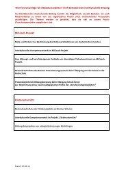 Themenvorschläge für Abschlussarbeiten im Arbeitsbereich ...