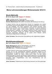 Meine Lehrveranstaltungen Wintersemester 2012/13 ... - TU Dortmund