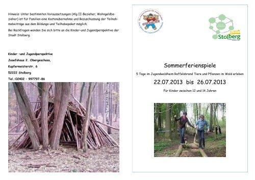 Anmeldung Sommerferien 2013
