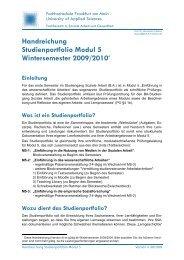 Handreichung Studienportfolio Modul 5 Wintersemester 2009/2010*